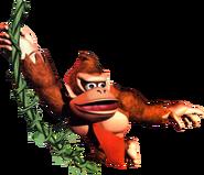 Donkey Kong swinging DKC