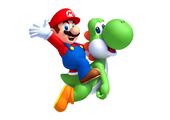 New Super Mario Bros. U artwork - Mario & Yoshi 1