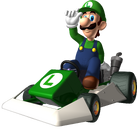 Luigi Artwork - Mario Kart DS