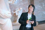 Shigeru Miyamoto visits the Louvre with the 3DS