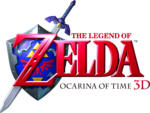 The Legend of Zelda Ocarina of Time 3D logo