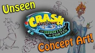 Crash Bandicoot - Unseen Concept Art, Villain and Original Title!