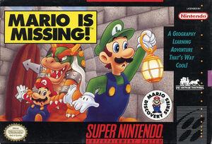 Mario is Missing! (SNES Boxart)