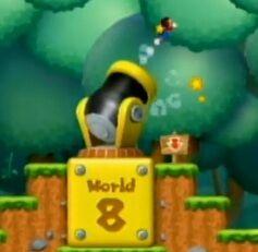 super mario bros wii world 1 cannon
