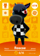 Amiibo - Card - Animal Crossing - Roscoe