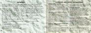 Donkey Kong Land III Manual (Warning and Warranty)