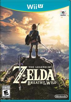 TLOZ BOTW NA box (Wii U)
