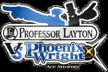 Professor Layton vs. Phoenix Wright Ace Attorney logo