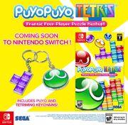 Promocion de Puyo Puyo Tetris