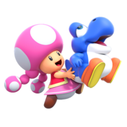 New Super Mario Bros. U Deluxe - Toadette with Bubble Baby Yoshi