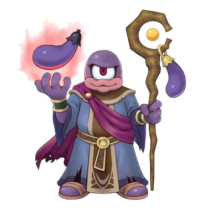 Artwork Of The Eggplant Wizard From Kid Icarus Uprising