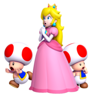 New Super Mario Bros. U Deluxe - Peach with Toads