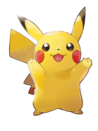 Pokémon Let's Go, Pikachu! and Let's Go, Eevee! - Character Artwork - Pikachu 02