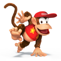 Diddy Kong SSB4 - Artwork