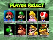 Player Selection - Mario Kart 64