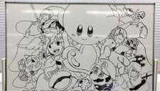 Super Smash Bros Wii U 3DS staff drawing