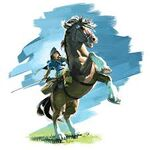 Link riding a horse