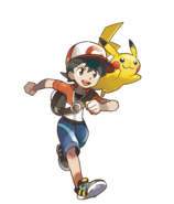 Pokémon Let's Go, Pikachu! and Let's Go, Eevee! - Character Artwork - Male Character & Pikachu