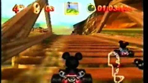 CM 任天堂 ミッキーのレーシングチャレンジUSA (N64)
