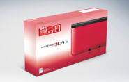 Nintendo 3DS XL red NA box art