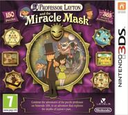 Professor Layton and the Miracle Mask EUR box art