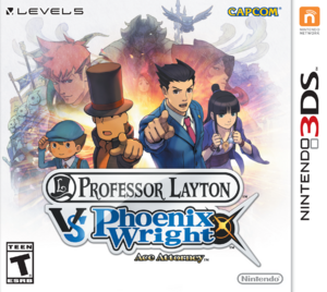 Professor Layton vs Phoenix Wright box art