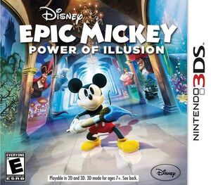 Epic Mickey Power of Illusion box art