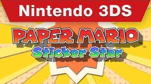 Paper Mario Sticker Star - English Nintendo Direct trailer