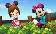 Minnie Mouse and Mii - DMW2