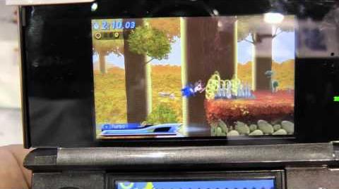 Sonic Generations - Gamescom 2011 Mushroom Hill gameplay