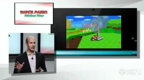 Paper Mario Sticker Star Gameplay - Nintendo E3 2012 Press Conference