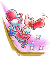 Yoshi's New Island - Yoshi & Mario Hill