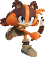 SonicDash2Sticks with her boomerang