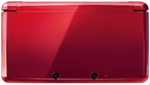 Flame Red 3DS closed