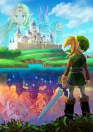 The Legend of Zelda A Link Between Worlds poster artwork