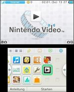 Nintendo Video menu