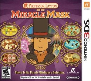 Professor Layton and the Miracle Mask box art