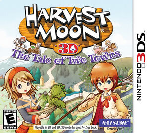 Harvest Moon The Tale of Two Towns box art