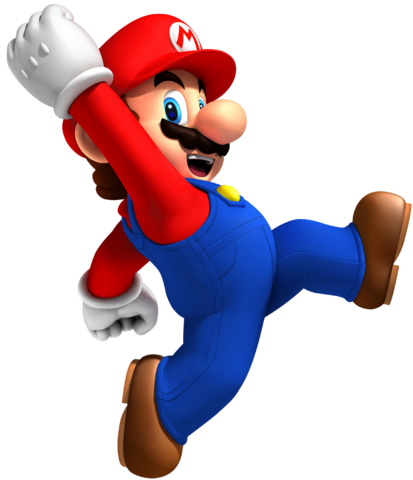 File:Jumping Mario Artwork - New Super Mario Bros. Wii.png