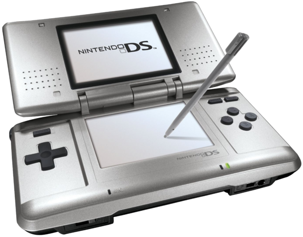 File:Nintendo DS - Original Grey Model.png