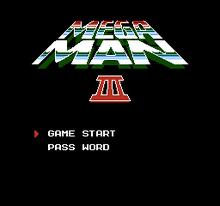 Mega Man 3 Title Screen
