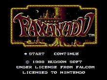 Faxanadu Title Screen