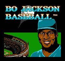 Bo Jackson Baseball Title Screen