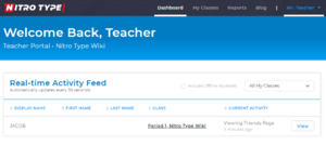 Teacher Portal Dashboard