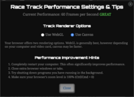 Raceperformancesettingstips