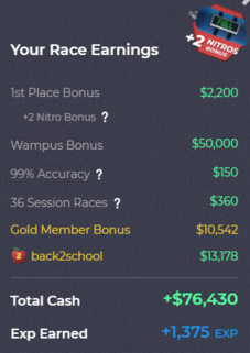 Racing Rewards