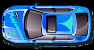 Misoux Lion (painted blue)