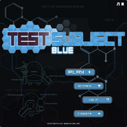 Test Subject Blue menu