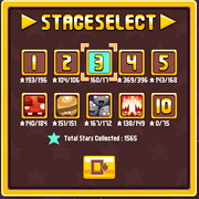Level select screen with Touchy cursor CDNM