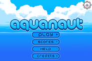 Aquanaut Titlescreen